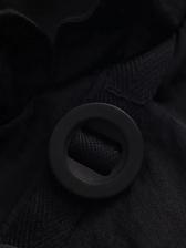 Vintage Style Short Sleeve Cheongsam Black Dress