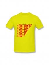 Letter Short Sleeve Unisex Tee Shirts