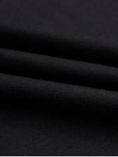 Simple Letter Print Short Sleeve Black T Shirt