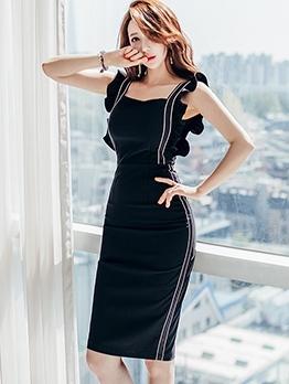 Elegant Square Neck Sleeveless Summer Dresses