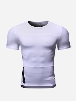 Breathable Crew Neck Short Sleeve Sport T Shirt