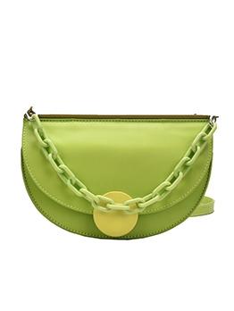 Acrylic Chain Semicircle Detachable Belt Shoulder Bags