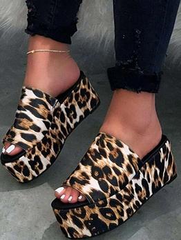 Fashion High Platform Womens Slippers