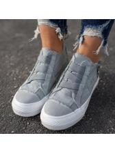 Trendy Zipper Up Canvas Sneakers