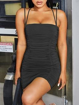 Summer Sexy Draped Sleeveless Bodycon Dress