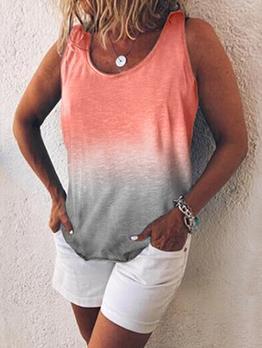 Gradient Color Sleeveless Plus Size Camisoles