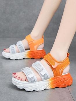 Euro Platform Sporty Flat Sandals