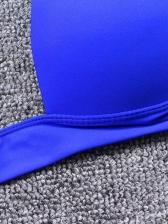 Sexy Deep V Neck Tie Wrap Mini Two Piece Swimsuit