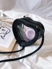 Cute Heart Shape Transparent PVC Mini Shoulder Bags