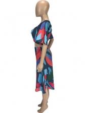 Colorful Loose Printed 2 Piece Skirt Set