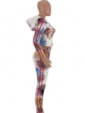 Hooded Printed Long Sleeve Two Piece Pants Set