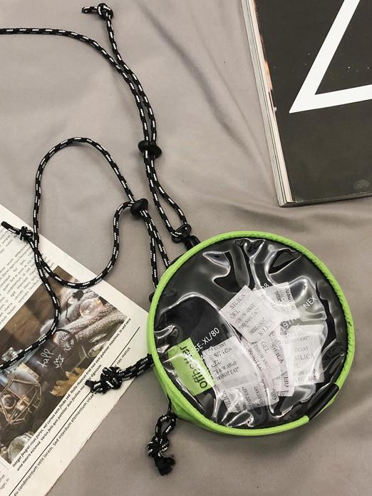 Round Transparent PVC Thin Rope Mini Shoulder Bag