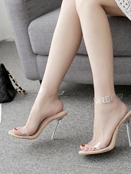 Clear Upper Stilettos Open Toe Sandals