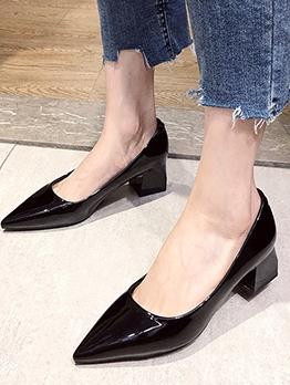 Business Solid Pointed Toe Designer Heels