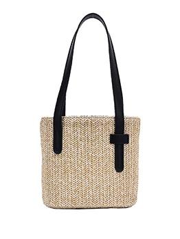Beach Style Drawstring Woven Design Ladies Handbags