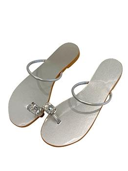 New Design Rhinestone Flat Ladies Slippers