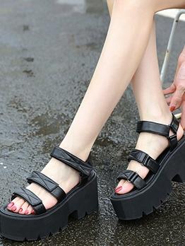 Hot Sale High Platform Black Sandals