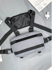 Casual Adjustable Buckle Oxford Unisex Chest Backpack
