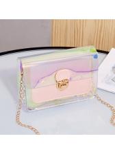 Laser PVC Transparent Chain Crossbody Bags