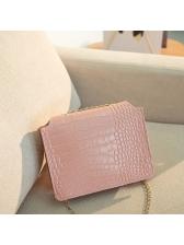 Metal Splicing Crocodile Print Chain Shoulder Bags