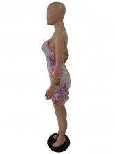 Colorful Snake Print Backless Short Sleeveless Dress