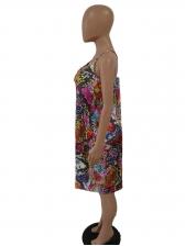 Multicolored Snake Print Sleeve Plus Size Dresses