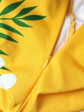 V Neck Printed Tie-Wrap Maxi Dresses