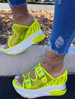 Euro High Platform Women Stylish Slippers