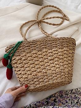 Summer Beach Cute Pendant Straw Shoulder Bags