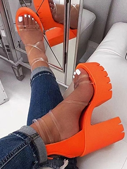 High Platform Chunky Heel Comfortable Sandals