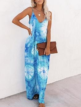 Loose Camisole Ladies Summer Maxi Dresses