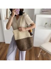 Tassel Pendant Woven Beach Big Shoulder Bags
