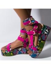 Colorful Printed Euro Ladies Platform Sandals