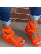 High Platform Hook Loop Velcro Ladies Sandal