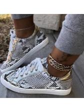 Sporty Snake Printed Women Sneakers