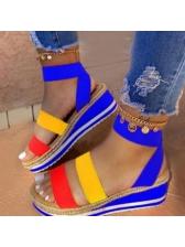 Casual High Platform Suede Upper Ladies Sandal