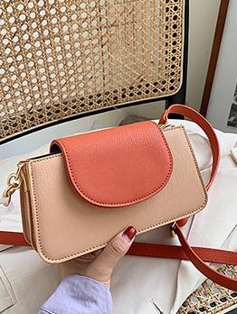 Stitching Color Detachable Patchwork Belt Crossbody Bag