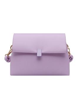 Minimalist Style Solid Pu Thin Strap Crossbody Bag