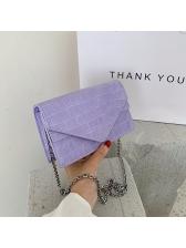 Crocodile Print Simple Style Chain Shoulder Bag