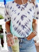 Summer Crew Neck Short Sleeve Printed T Shirts