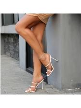 Roman Style Solid Stilettos Womens Slippers