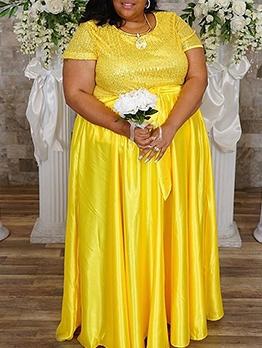 ure Tie Wrap Sequin Plus Size Dresses For Women