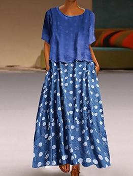 Trendy Polka Dots Two Piece Skirt Set