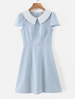 Vintage Doll Collar Short Sleeve Dress