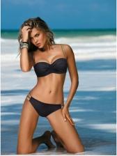 Summer Fitted Strap Bikini Set For Beach