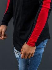 Contrast Color Long Sleeve Sport T Shirt