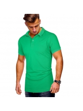 Casual Solid Short Sleeve Polo T Shirts