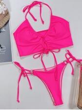 Halter Neck Printed Women Bikini Sets