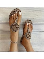 Euro Leopard Printed Ladies Slippers