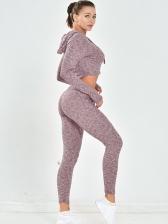 Spring Hooded Long-Sleeved Sport Fitness Yoga Sets